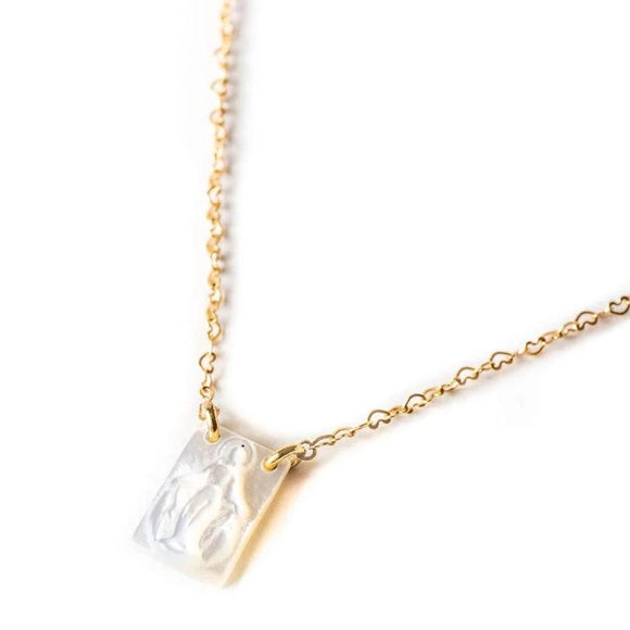 Dainty Blessed Mother Necklace