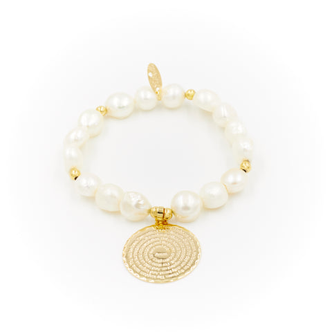Lord's Prayer Pearl Bracelet