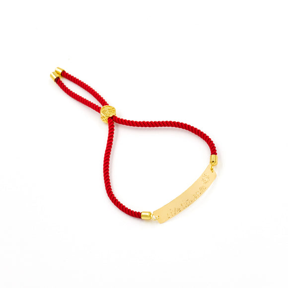 Live Like Bella Red Bar Bracelet