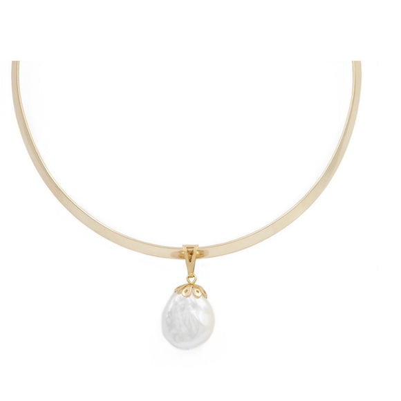 Angelina Pearl Omega Choker Necklace