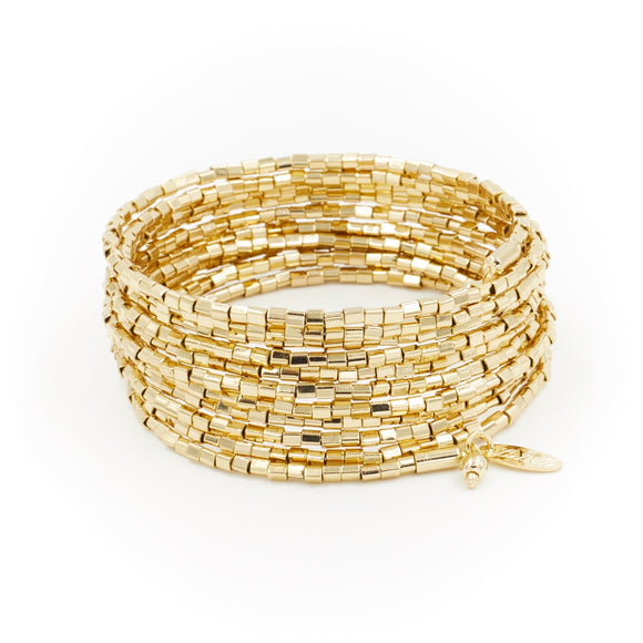 Golden Wrap Bracelet