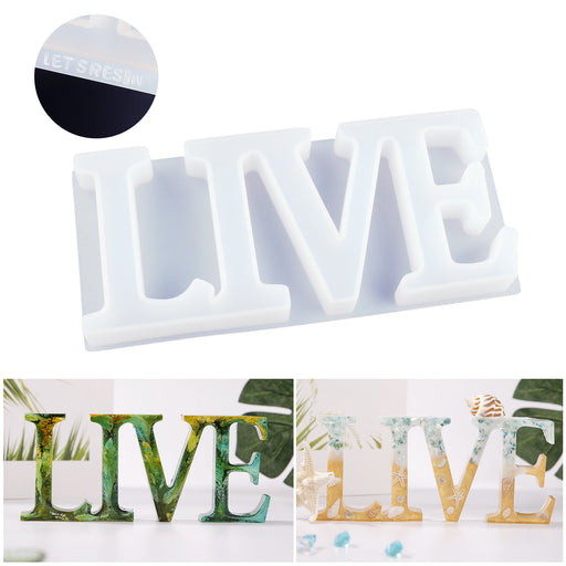 Live Mold, Silicone Resin Molds, Good Gift Idea to Creating A Unique Resin Project Thank You Card Included
