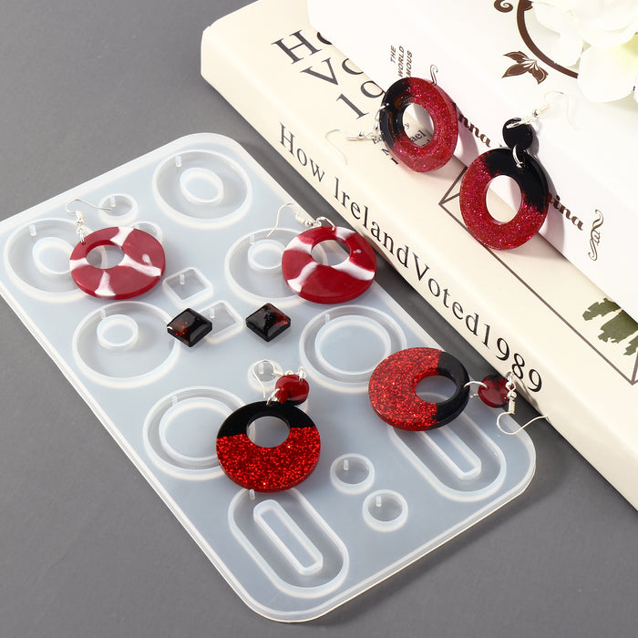 3PCS Earring Epoxy Resin Molds Fashion Jewelry Bohemian Drop Dangle Resin Earring Silicone Molds