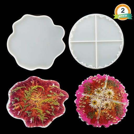 Silicone Geode Coaster Mold Resin Epoxy Casting Mould DIY Art Craft Accessories^