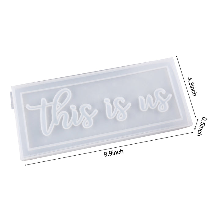 LET'S RESIN Exclusive Molds-this is us Molds, Silicone Resin Molds