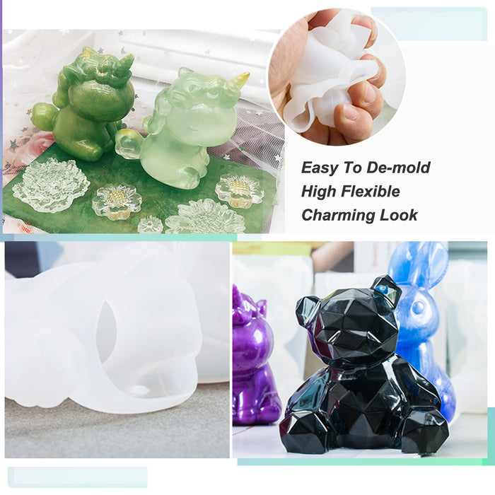 7PCS Animal Resin Molds, LET'S RESIN Epoxy Resin Silicone Molds, Unicorn Resin Casting Molds