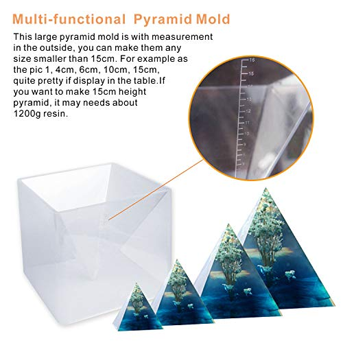 Large Pyramid Mold, Resin Silicone Molds for Orgonite Orgone Pyramid, Paperweight