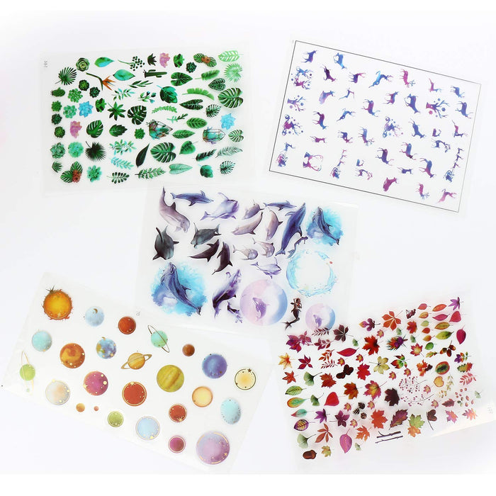 30 Sheets Resin Supplies Kit Transparent Decorate Stickers Silicone Resin Molds