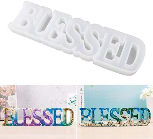 LET'S RESIN Word Sign Molds-Blessed Molds, Silicone Resin Molds, Epoxy Resin Molds