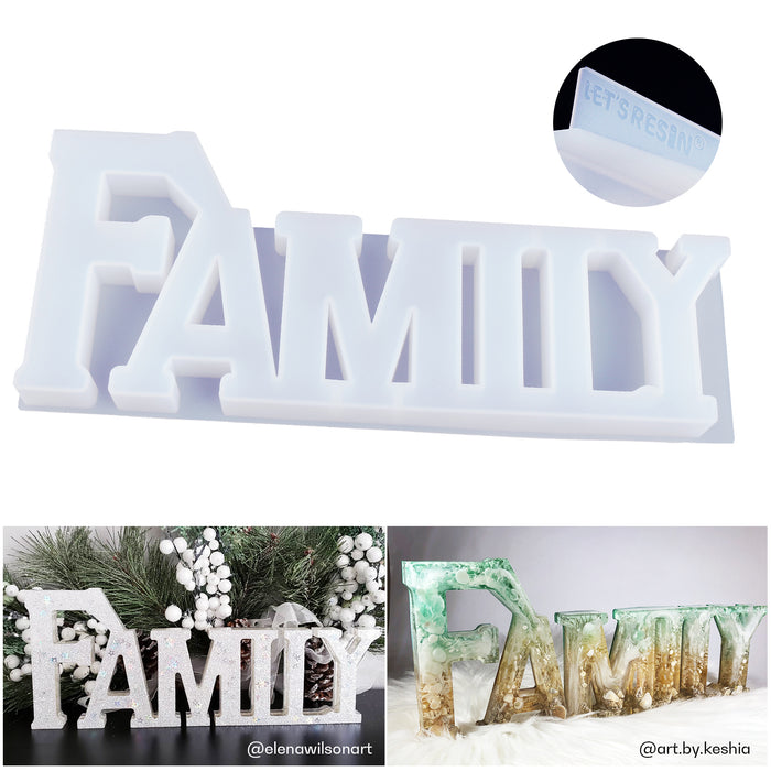 LET'S RESIN FAMILY Mold, Silicone Resin Molds, Good Gift Idea to Creating A Unique Resin Project