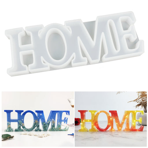 LET'S RESIN HOME Mold, Resin Letter Sign Molds, Resin Casting Molds with a Fairy Light