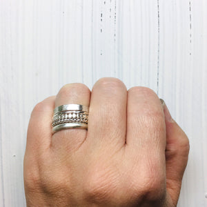 Five Sterling Silver Rings