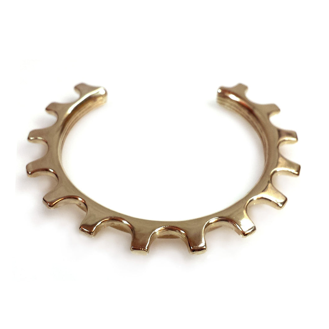 Brass Bike Gear Cuff
