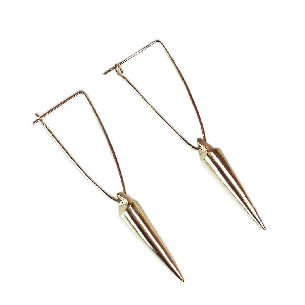 Brass Spike Earrings