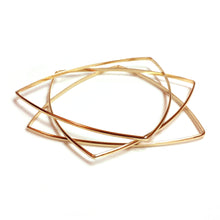 Load image into Gallery viewer, Brass Triangle Bangles