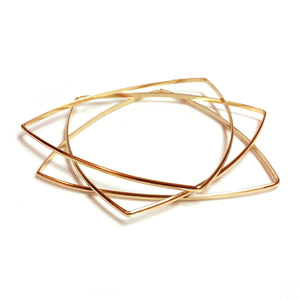 Brass Triangle Bangles
