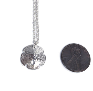 Silver Sand Dollar Necklace