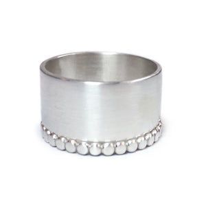 Brushed Silver Wide Stack
