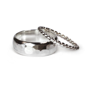 Silver Double Stack Rings