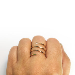 Rose Gold Filled Spiral Ring