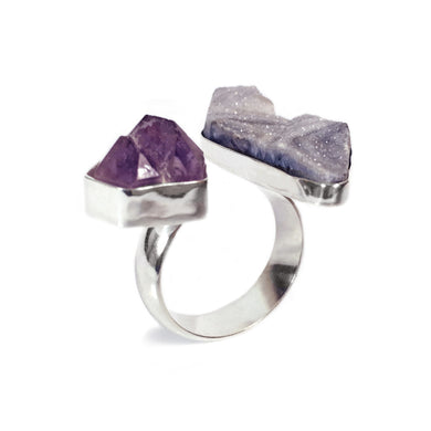 Lavender Double Stone Ring