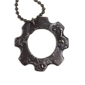 Blasted Gear Necklace