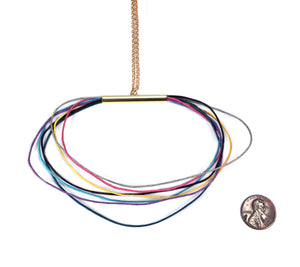 Bright Cord Necklace