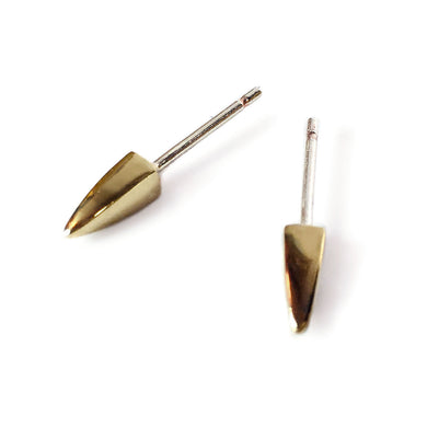 Brass Square Spike Earrings