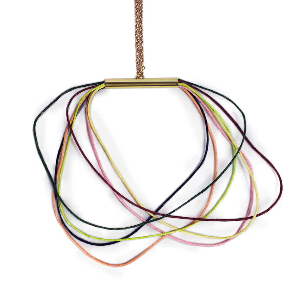 Pastel Corded Necklace