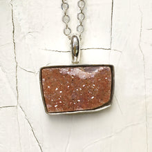Load image into Gallery viewer, Peach Druzy Necklace