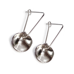 Silver Half Shell Earrings