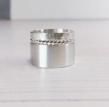 Load image into Gallery viewer, Textured Sterling Silver Rings