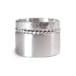 Textured Sterling Silver Rings