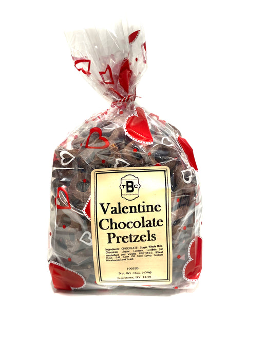 One Pound Valentine Chocolate Pretzel Bag