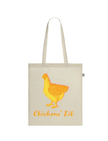 Chickens' Lib | 100% Organic Cotton Tote Bag