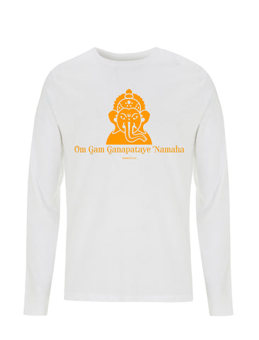 Om Gam Ganapataye Namaha | 100% Organic Cotton Long Sleeve Shirt