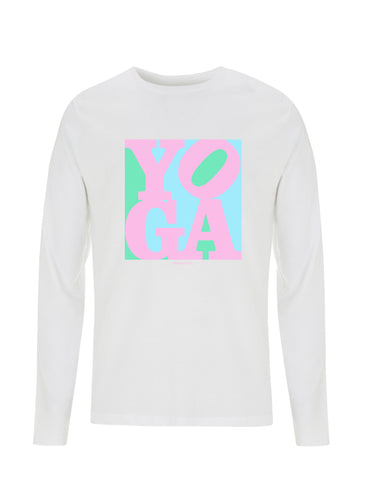 Yoga Pink Pop Art | 100% Organic Cotton Long Sleeve Shirt