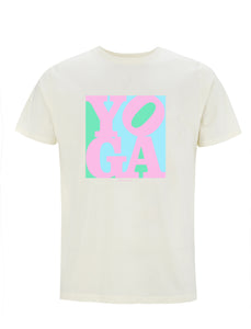 Yoga Pink Pop Art | 100% Organic Cotton T-shirt