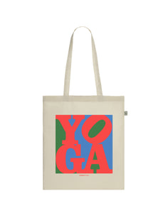 Yoga Pop Art Classic | 100% Organic Cotton Tote Bag