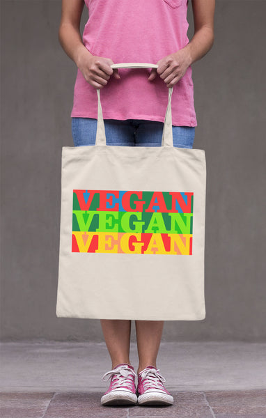 Three Times Vegan | 100% Organic Cotton Tote Bag