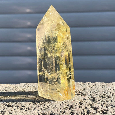 natural citrine crystal quartz obelisk wand point healing
