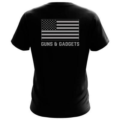 2A GUNS & GADGETS SMOKED FLAG SHIRT