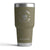 30 OZ TUMBLER W/ ENGRAVED SKULL LOGO IN HUNTER GREEN