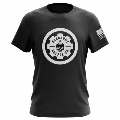 BLACKOUT COFFEE LOGO PREMIUM FITTED T-SHIRT