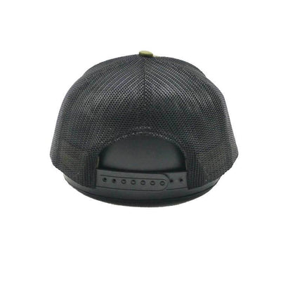 HUNTER GREEN ON BLACK SNAPBACK MESH HAT