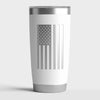 20 OZ Tumbler w/ Logo & US Flag In White