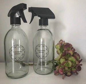 Clear glass 500ml spray bottle
