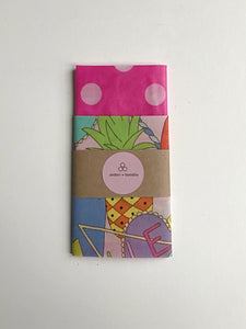 2 pack 80's neon beeswax wraps