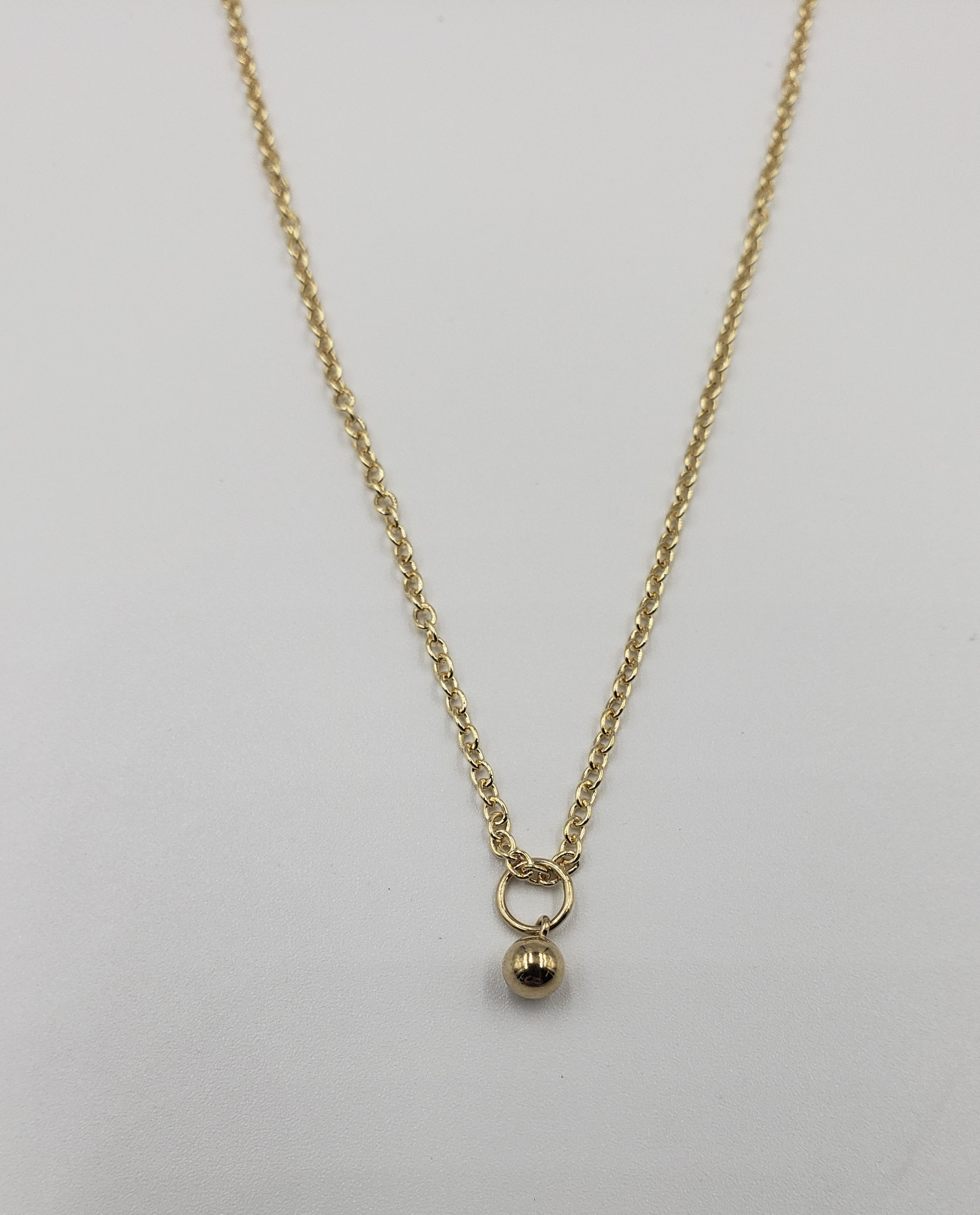 Gold Filled Ball Charm Necklace
