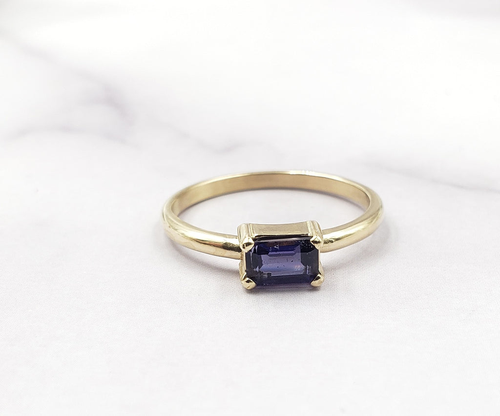 Iolite Gold Emma Ring